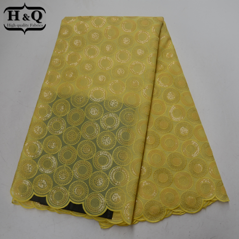 Yellow Organza Lace Fabric Hot Sale Swiss Voile Lace With Sequins High Quality African Lace Fabrics 5Yards/Pcs For Wedding/PartyYellow Organza Lace Fabric Hot Sale Swiss Voile Lace With Sequins High Quality African Lace Fabrics 5Yards/Pcs For Wedding/Party