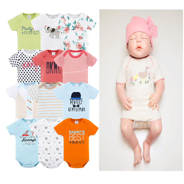 c8f881b079 Baby Girl Rompers Summer Jumpsuit Set Short Sleeve 100 Cotton 0-12M Novel Newborn  Baby Boy Clothes Sets Ropa Bebe Jumper Onesies