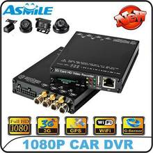 2014 hot 1080P views 4 ch small car DVR build-in G-sensor from asmile