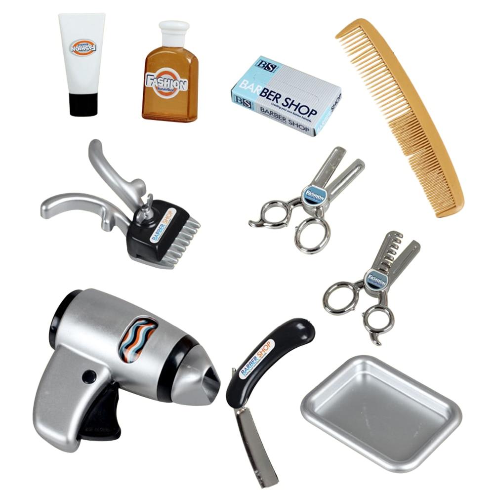 11 Stücke Haar Trockner Emulation Pretend Multi-funktion Haarschnitt Spielzeug Pretend & Play Geschenk Spielzeug Für Kinder Clear-Cut-Textur