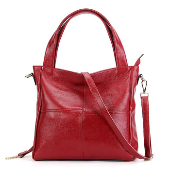 Garantía, bolso de cuero de vaca Natural para mujer, bolso de mano de cuero genuino, bolsas de mensajero para mujer, bolso de lujo para mujer, 2019