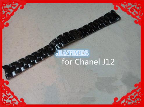 Frete Grátis 1 pcs 16mm Largura Faixa de Relógio Pulseira de Cerâmica para J12 Relógio de senhora na Cor Preta