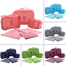 7PCs / Set Penyimpanan Perjalanan Storan Aksesori Pakaian Pakaian Tidy Luggage Penganjur Portable Container Waterproof Storage Bag