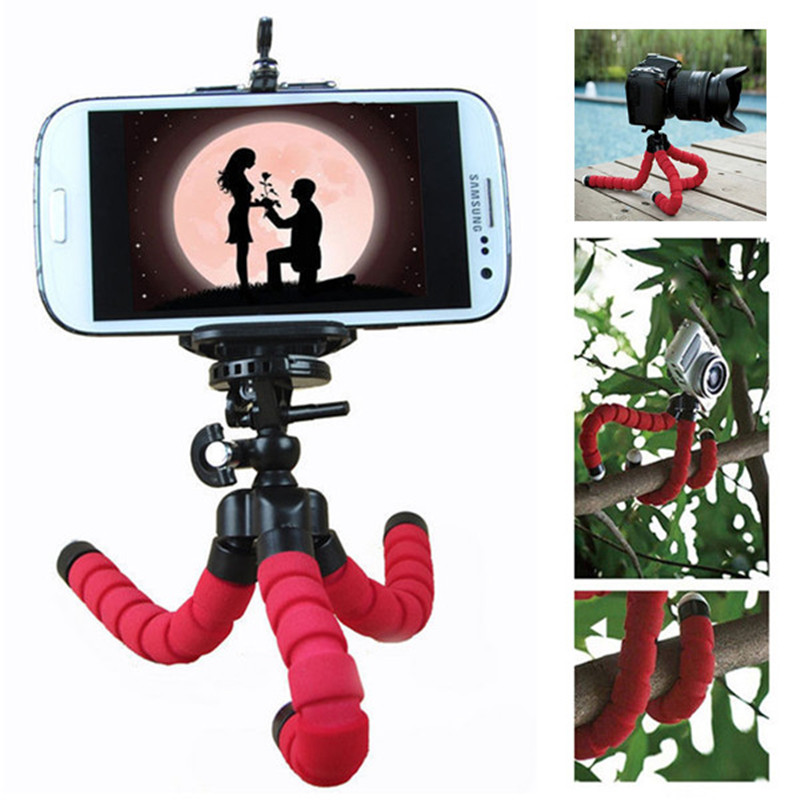 Mini Flexible Octopus Tripod Holder for iPhone Samsung Huawei Universal Mobile Smart Phone Tripod For Gopro Camera DSLR Mount