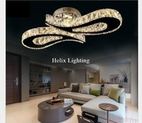 Envío Gratis L620mm lámpara LED de techo de cristal para sala de estar luminaria LED lámpara de techo accesorio para dormitorio AC 100% garantizado|led crystal ceiling light|crystal ceiling light|ceiling lights -