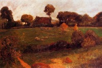 High quality Oil painting Canvas Reproductions Farm in Brittany (1886) by Paul Gauguin hand painted