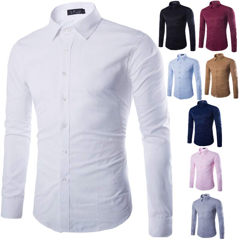 Brand White Men Shirt Long Sleeve Chemise Homme 2016 Fashion Business Design Mens Slim Fit Dress Shirts Casual Camisa Social in Casual Shirts from Men 39 s Clothing