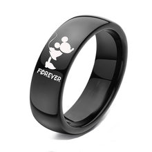 Forever Together Wedding Rings for Women Men Black-color Couple Promise Band Alliance Bijoux(China)