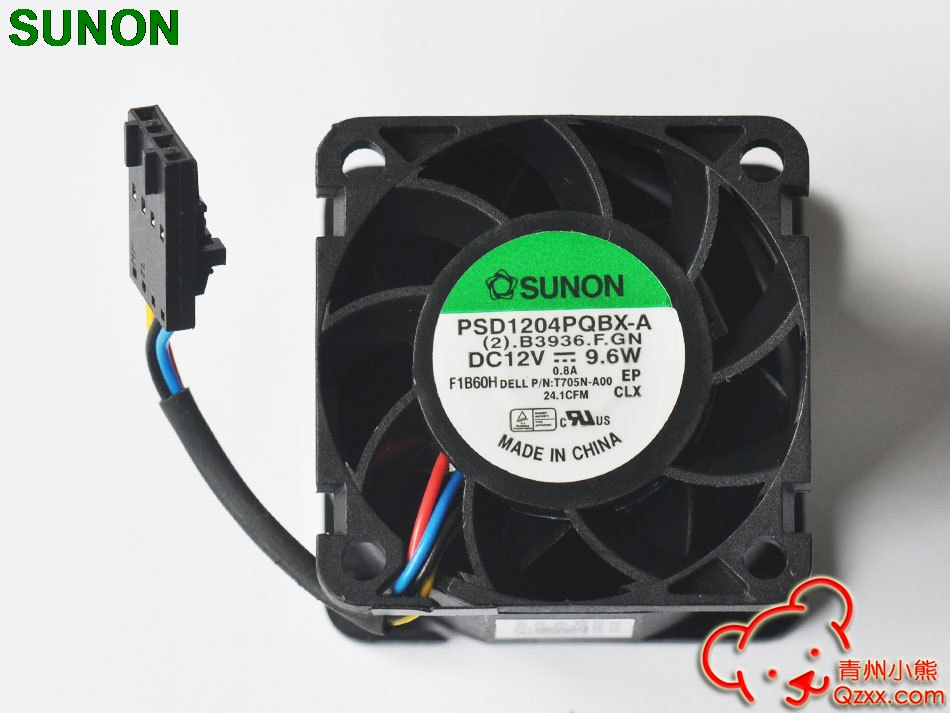 1pcs For Sunon PSD1204PQBX-A For Dell R210 Server Fans 0T705N 0N229R 40 * 28  Server Inverter Axial Cooling Fan