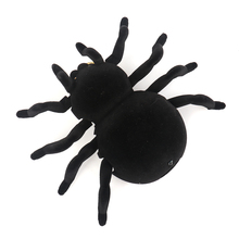Remote Control 4CH Soft Scary Plush Creepy Spider Infrared RC Tarantula Kid Gift Toy Wall ceiling
