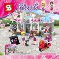 Nwe Девушки Друзья Heartlake Город Модель Наоми Стефани торт кофе дом Строительные Блоки, Совместимые с Legoes