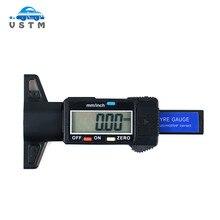 Цифровой измеритель Глубина рисунка протектора Измеритель для грузовых автомобилей и внедорожник 0-25,4 мм