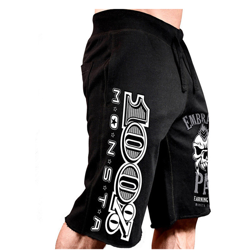 Eehcm New Men's Casual Shorts Skull Print Men's Cotton Shorts Summer Fitness Casual Sweatpants Fashion Quality Brand Shorts
