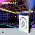 DC12V-24V Поворотная RGB Сенсорная панель контроллер переключатель RF пульт дистанционного RGB 3CH светодиодный диммер для 5050 3528 2835 Светодиодный лен...