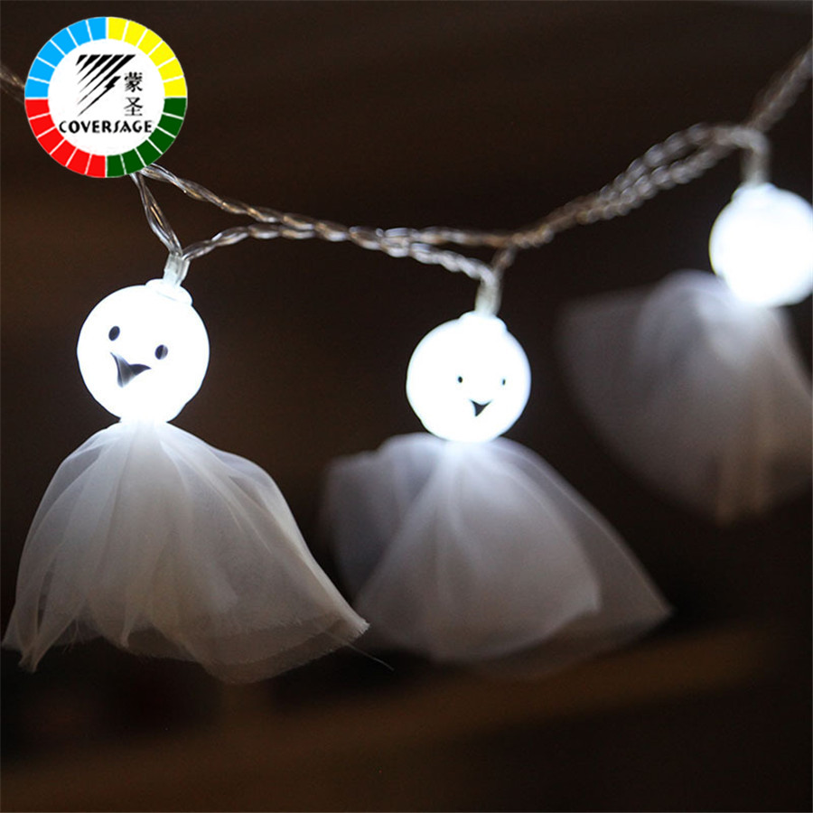 Coversage Halloween Fairy String Lights 10 Leds Indoor Garden Party Luces Decoration Outdoor Light Curtain Led String Lights