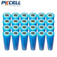 24 pz PKCELL 3.2 v IFR14500 Alta Ciclo di Potenza Della Batteria Al Litio 600 mah Lifepo4 AA Batterie Ricaricabili Per La Luce Solare