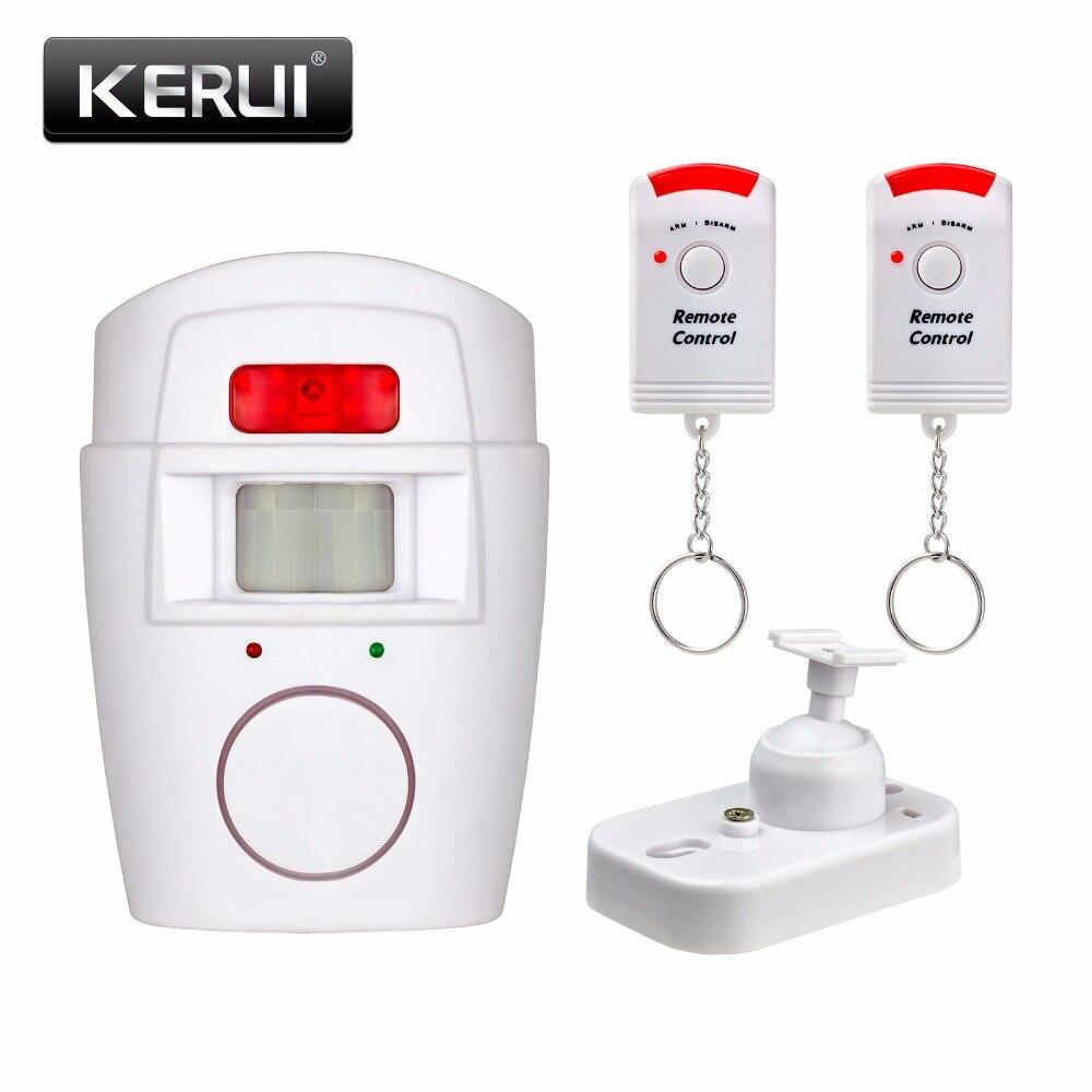 Casa de seguridad PIR MP infrarrojo Sensor Anti-robo Detector de movimiento de Monitor de alarma sistema de alarma inalámbrico + 2 remoto controlador