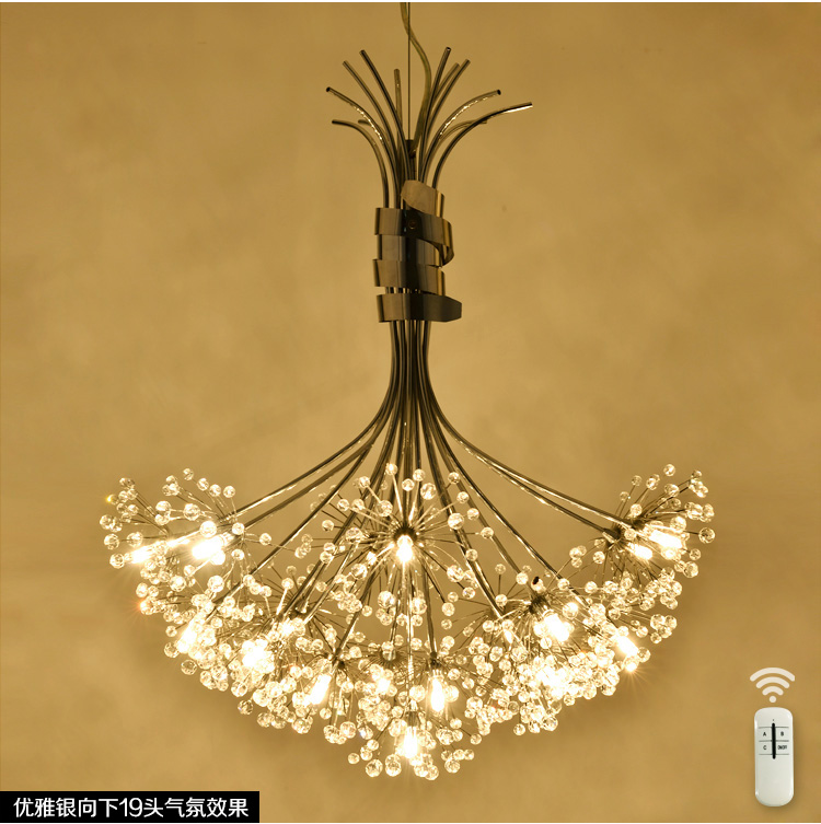 Modern Led Crystal Pendant Lights Fixture for Dining Room Kitchen Flower Dandelion Design Hanging Pendant LampModern Led Crystal Pendant Lights Fixture for Dining Room Kitchen Flower Dandelion Design Hanging Pendant Lamp