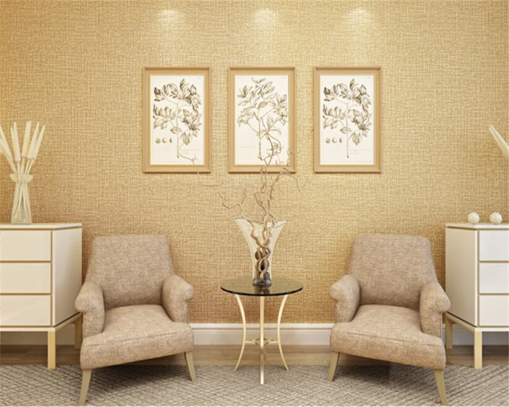 Beibehang 3D Wallpaper Modern Linen Texture Bedroom Pure Plain Living Room Desktop Wallpapers For In From Home
