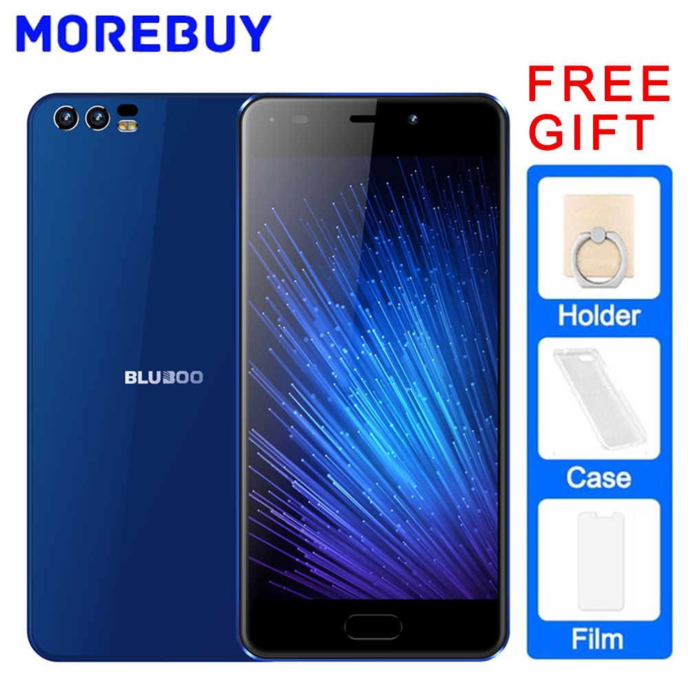 """BLUBOO D2 MTK6580A Quad Core 1.3GHz Android 6.0 Mobile Phone 1GB RAM 8GB ROM Smartphone 5.2"""" 3300mAH 3G Dual Rear Cameras"""