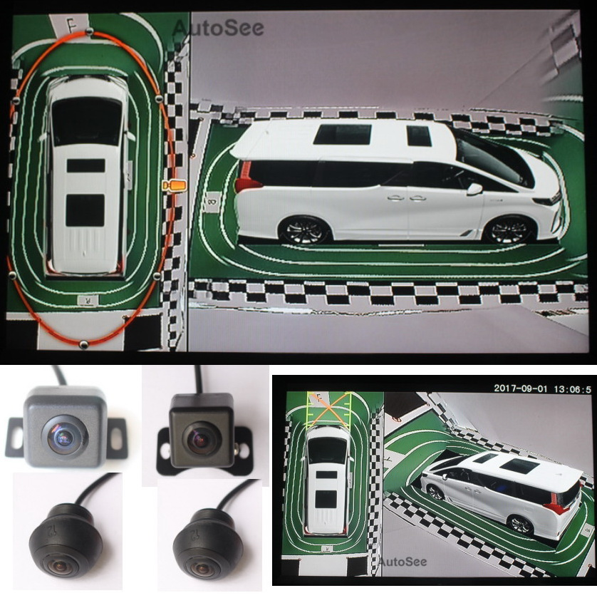 HD 3D MPV Motorhome LCV Minibus Multivan coach 360 degree bird eye camera surround view monitoring