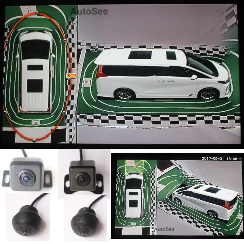 HD 3D MPV Субару Outback дом на колесах Camper LCV микроавтобус мультивена туристические 360 градусов птичий глаз камера панорамный обзор контроля система DVR 1080P