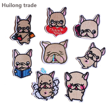Cartoon Bulldog Series Clothing Embroidery Patch Cute Puppy Decorative Cloth Paste DIY design and other decorative accessories