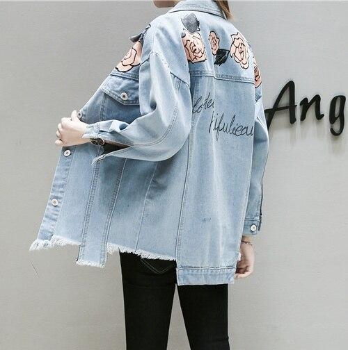 Più Blu 2018 Autunno Cappotti Formato Giacche Jeans Primavera Stampa . a9624a88d7b