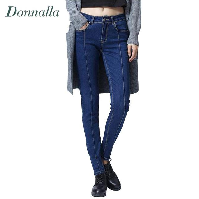 Pencil Jeans Women BF style Skinny Jeans Denim Trousers Fashion Elastic Pencil Jeans Women High Waist Fitness Skinny Pants 2016