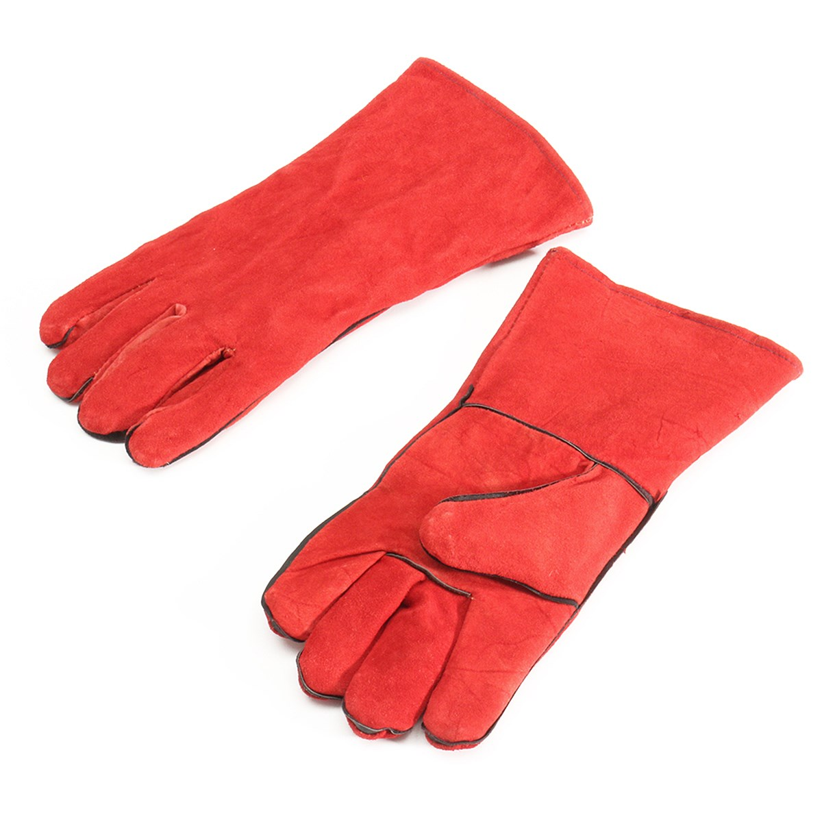NEW XL Leather Welder Gauntlet Log Fire High Temperature Protection Long Glove Stove Safety Gloves welder machine plasma cutter welder mask for welder machine