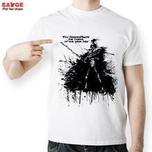EATGE Black Ink Hand Drawn Darth Vader Shape T Shirt Fashion Creative T shirt Printed