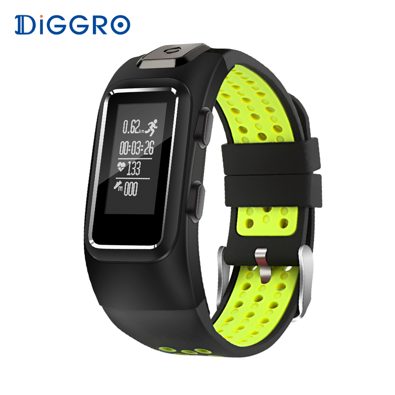 Diggro DB10 Smart Bracelet GPS Tracker Heart Rate IP67 Waterproof Sport Wristbands Sleep Tracker For Android IOS