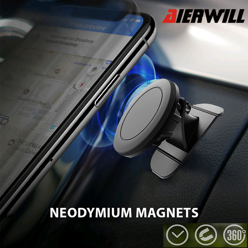 Magnetic Car Phone Holder For Huawei Samsung IPhone Magnet Mount Holder Magnet Sticker Phone Stand Phone Holder Mount Support