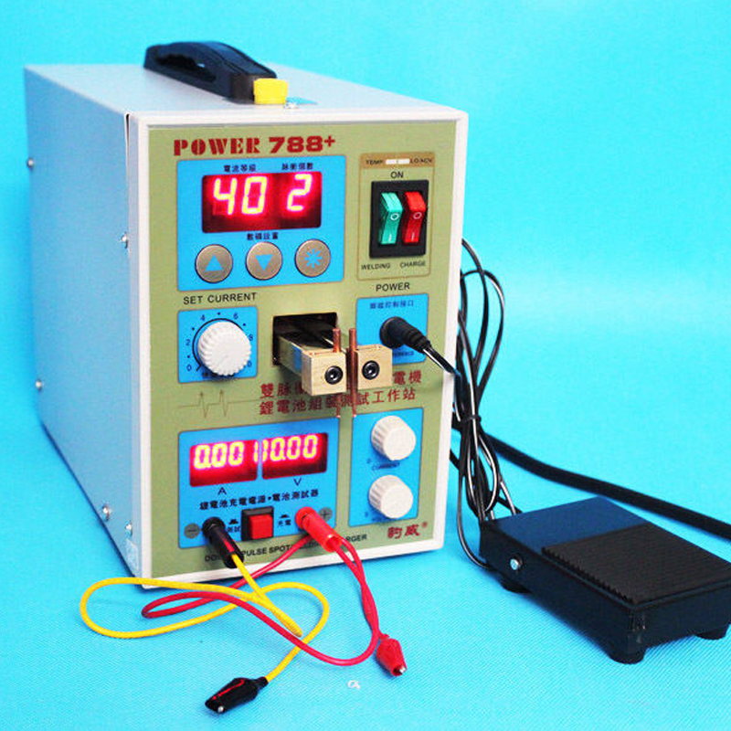 High Quality 788+ Dual Pulse Battery Spot Welder Welding Machine Power Tool Charger 220V цена и фото