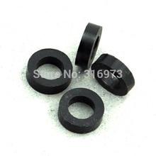 (50 pcs/lot ) 2mm Black Nylon Round Spacer, OD 7mm, ID 4.1mm, for M4 Screws, Plastic.