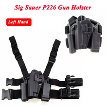 Sig Sauer P226 Gun Left / Right Hand Leg Holster w/ Magazine Flashlight Pouch Military Hunting Airsoft Air Gun Carry Holster цена и фото