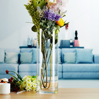 GIEMZA Acrylic Floor Vase Pure Flower Pot Flower New Unique ECO CHIC Garden Tool Diameter 10CM Modern Transparent Thicken Dried