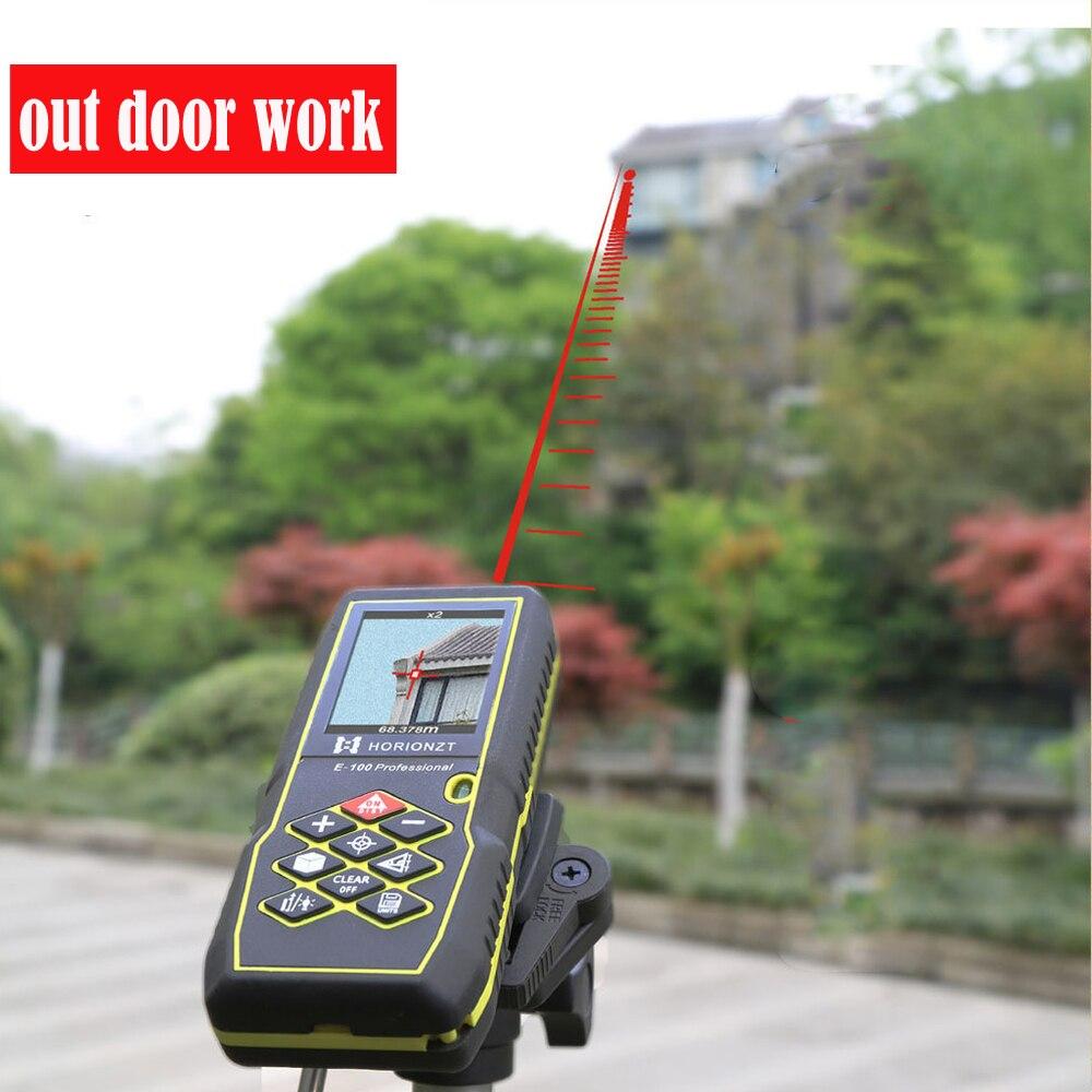 Laser range finder Couleur affichage Distance, 60 m Laser mètre de Distance Télémètre 80 m 100 m Gamme Finder ruban à Mesurer de pentecôte Caméra