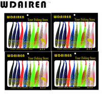 Hot Floating Soft Lur 10PC Lot Silicon Fishing Bait 8 5CM 3 5 2 4G 0