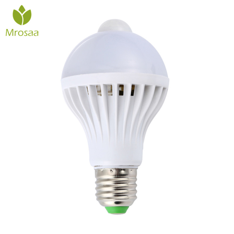 Mrosaa AC85-265V Night Light Led Bulbs E27 5W 7W 9W LED PIR Motion Sensor Lights Home Auto Energy Saving Smart LED Lamp Bulb