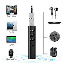 Мини беспроводной 4,1 Bluetooth адаптер приемник ключ AUX 3,5 мм разъем аудио музыка стерео автомобиль портативный 2,4 Гц для компьютера наушники
