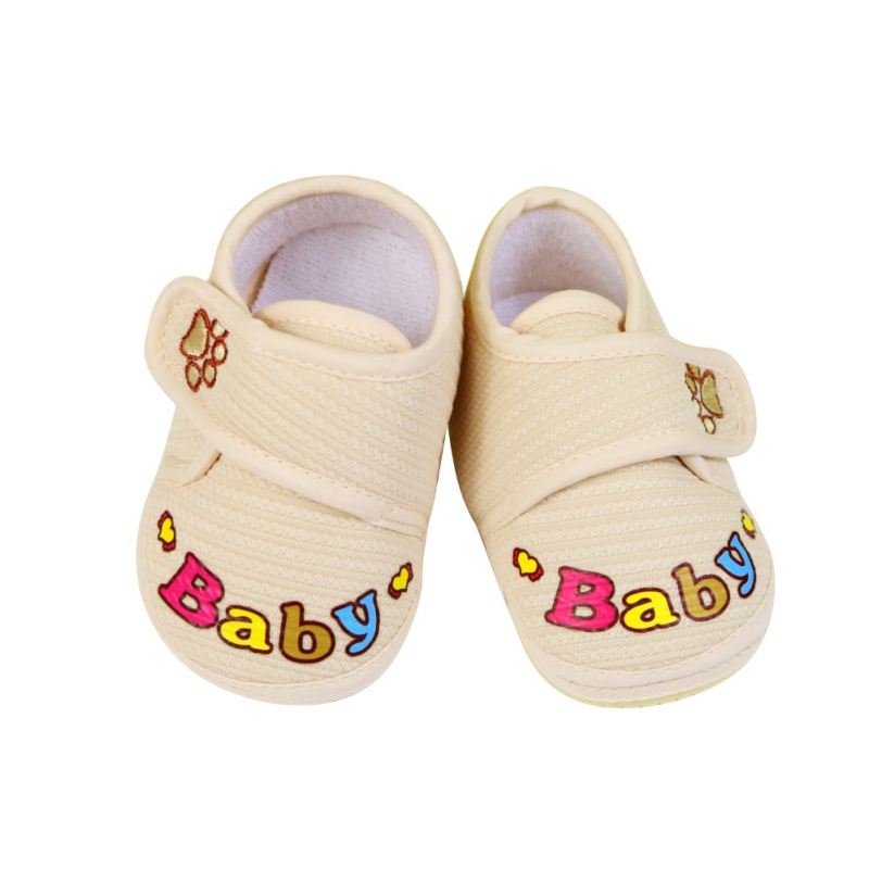 Toddler Newborn First Walkers Shoes Baby Infant Kids Cartoon Prewalker Shoes Boy Girl Soft Sole Canvas Sneakers 0-12Months