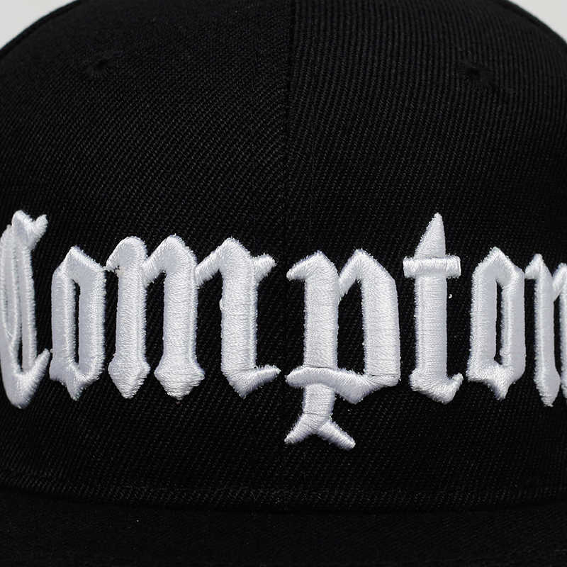 c6ef3bc08a8ed7 ... 2019 new COMPTON embroidery Baseball Cap Hip Hop Snapback caps flat  fashion sport Hat For Unisex ...