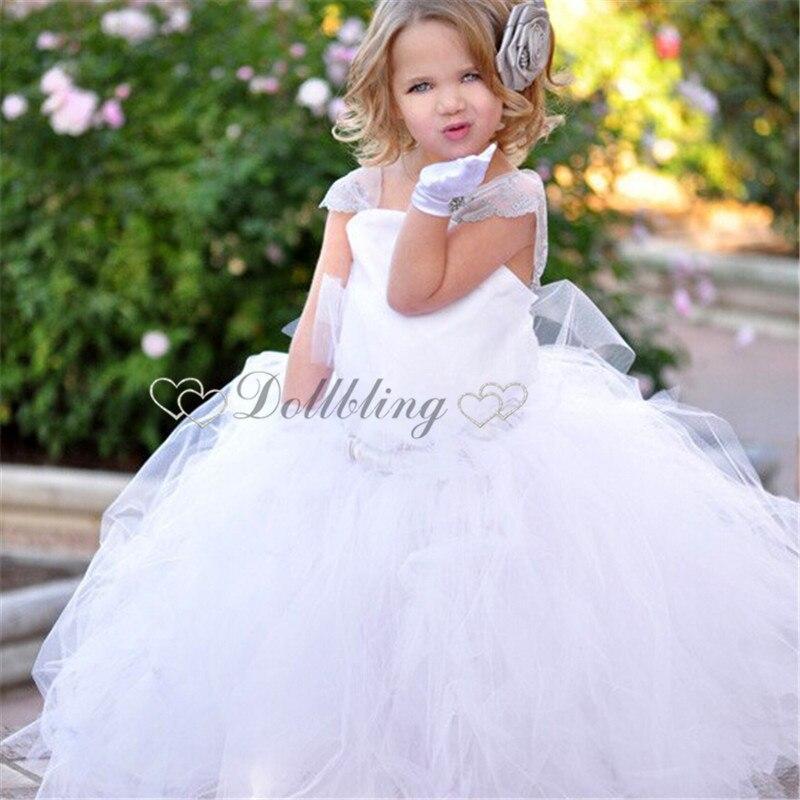 Dollbling Designer white First communion teen gril vintage ballet  tutu dress custom for buyer Formal Pageant dress