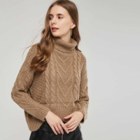 45acbad719 Sisjuly Vintage Preppy Style Casual Plus Size Women Brown Camel Cable Knit  Short Sweater Loose Dark