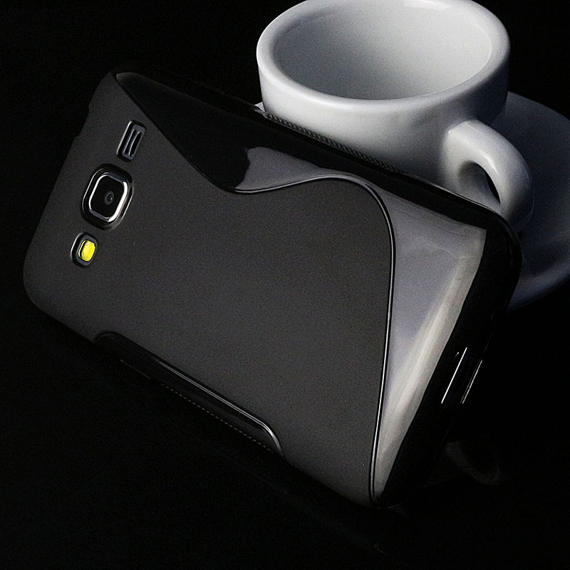 S lines Soft TPU Case For Samsung Galaxy Core Prime G360 Back Protect Rubber Silicone Phone Bags