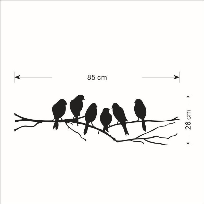 Branches and birds sticker self adhesive Waterproof Living room bedroom background home decor pvc Generation wall stickers