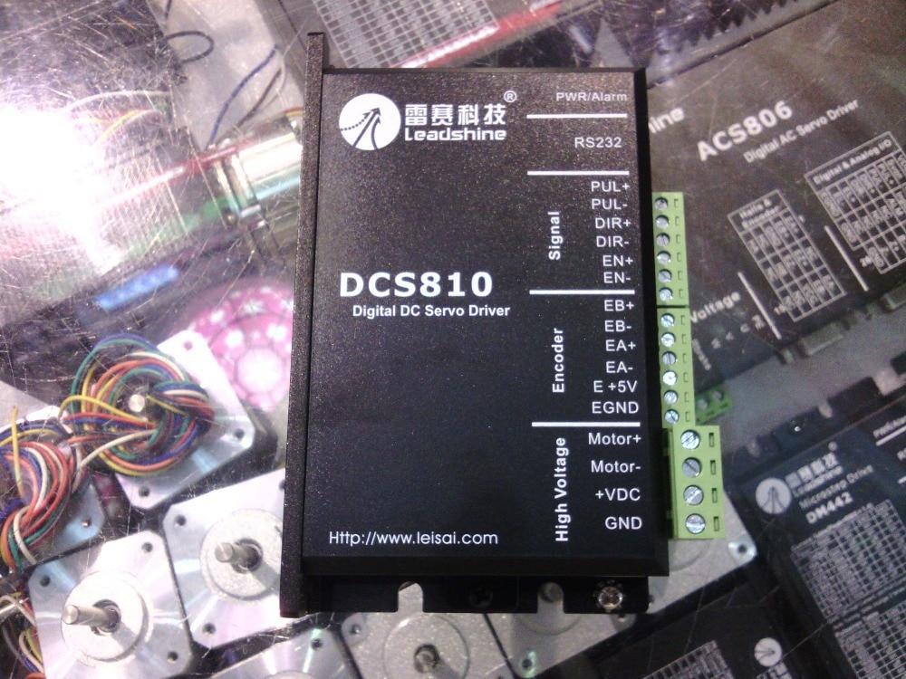 Freies verschiffen Leadshine DC servo drives DC-SERVOANTRIEB DCS810 arbeit 24-80 VDC heraus 1A zu 20A fit für DCM50207/DCM50205 DC Pinsel servo motor