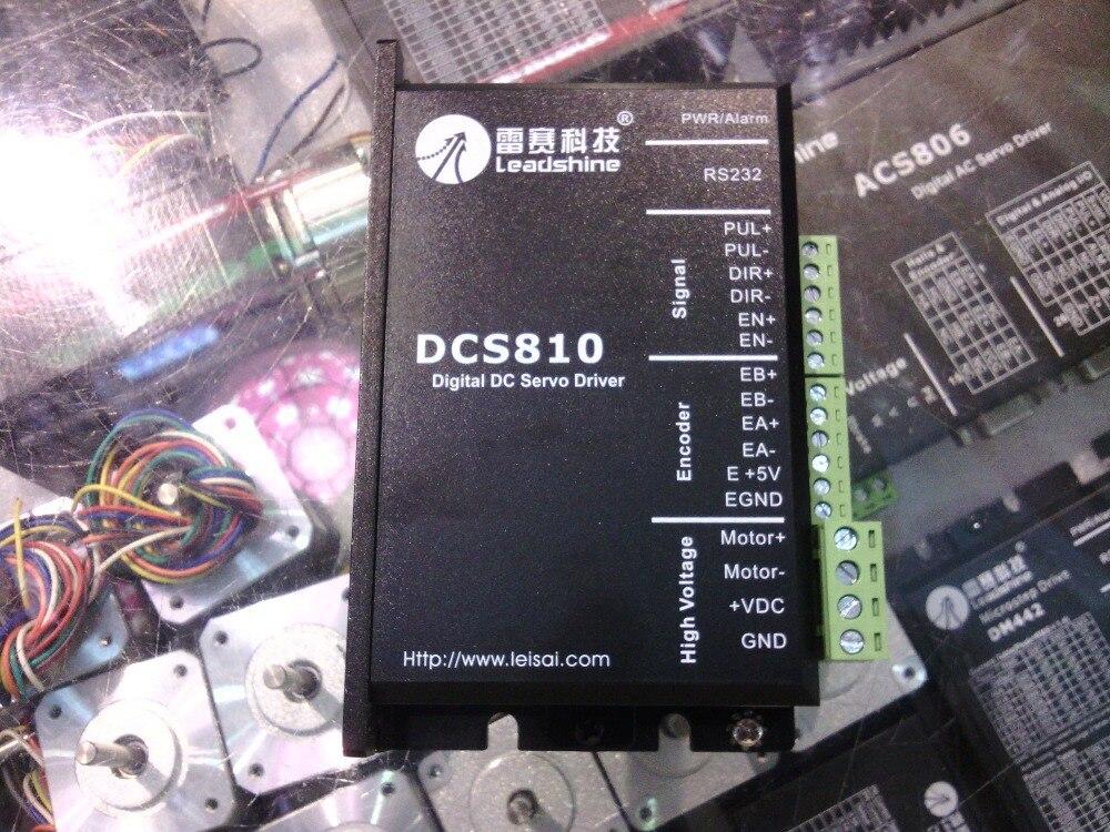 Livraison gratuite Leadshine DC servo drives DCS810 travail 24-80 VDC out 1A à 20A fit pour DCM50207/DCM50205 DC Brosse servo moteur