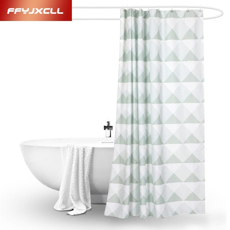 Acheter Blanc Vert Japon Style Polyester Salle De Bains Rideaux De Douche